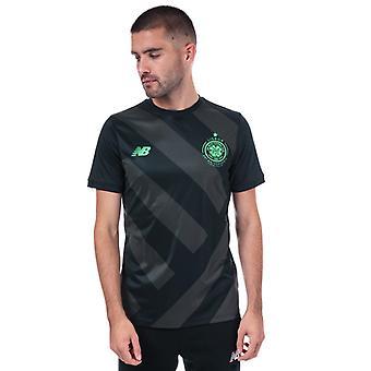 Menn's New Balance Celtic Pre Match Trening T-skjorte i svart