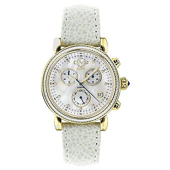 GV2-tekijä Gevril Women's Marsala 9845.1 Chronograph Swiss Quartz Diamond Watch