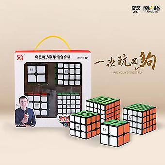 4pcs Σετ Cubing Ταχύτητα Δέσμη Moyu Mofangjiaoshi 2x2 3x3 4x4 5x5 Meilong Qiyi