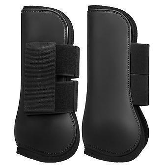 Adjustable Horse Riding Leg Boots Set, Equine Front Leg Guard Hind Boots,