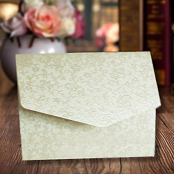 A6 Pocketfold Invitations Ivory Applique Pack of 10