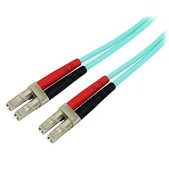 Startech.com 1m fiberoptisk kabel - 10 gb aqua - multimode duplex 50/125 - lszh - lc/lc - om3 - lc t