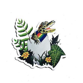 Gay Pride Alligator Vinyl Aufkleber