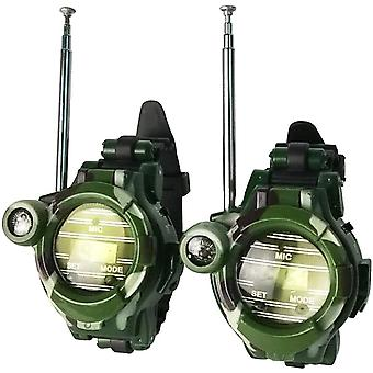 Walkie Talkies Montres Camouflage Radios Mini Interphone Clock