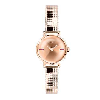 Furla Women'S Rose Gold Dial Stainle  Steel  Watch