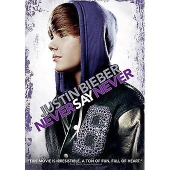 Justin Bieber: Never Say Never [DVD] EUA importar