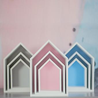 Puckdaddy étagère elise en rose 3 set d'étagères décoratives dans la maison design de chambre d'enfant étagère