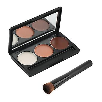 Maquiagem - 3 Paleta de cores para contorno | Contorno/blush/destaque
