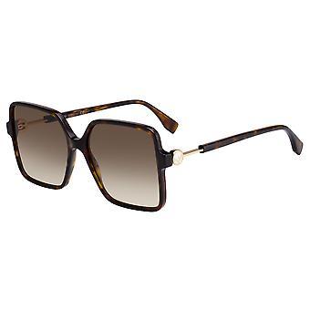 Fendi FF0411/S 086/HA Havana/Brown Gradient Sunglasses