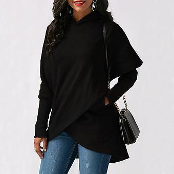 Kvinner Hettegensere Sweatshirts, Høst, Vinter Pluss Størrelse Langermet, Lomme