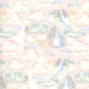 Melody Jane Dolls House Little Bo Peep Miniature Print Nursery Wallpaper