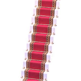 Dolls House Woven Stair Carpet Runner Deep Pink Miniature Flooring