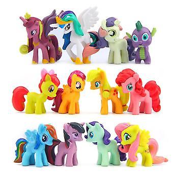 Poney Anime Figures Toy Pvc Cute Little Horse Figure Dolls (12 Pcs)