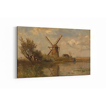 Malerei - Mühle an einer Pfütze - 90x60cm