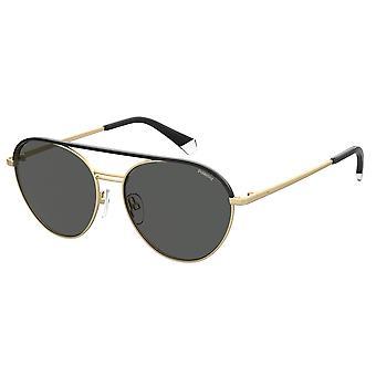 Polaroid PLD2107/S/X AOZ/M9 Matte Gold/Grey Polarised Sunglasses