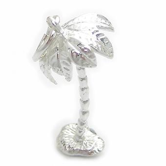 Palme Sterling Silber Charm .925 X 1 Palmen Charms - 4520
