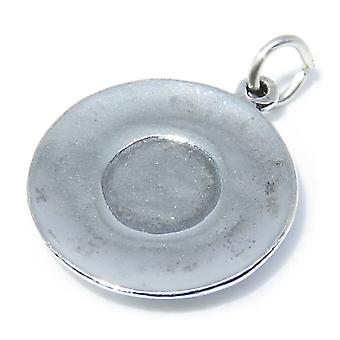 Soucoupe Sterling Silver Charm .925 X 1 Soucoupes &Drinking Charms - 8294
