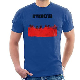 Shaun of the Dead Zombie Hands Silhouette Men's T-Shirt