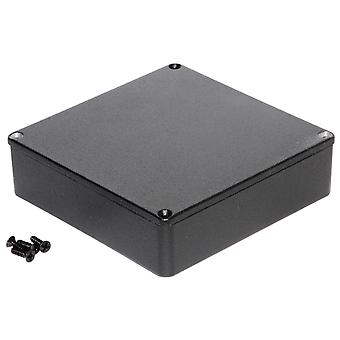 Hammond 1590QBK Diecast Enclosure Black (120 x 120 x 34mm)