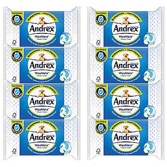 8 x 40 Andrex Washlets Wipes Classic Ren Bomuld Frisk Fugtig Flashable Toilet Tissue