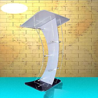 White Acrylic Podium Victory Stand Aklike Valet Podium Stand With Angled