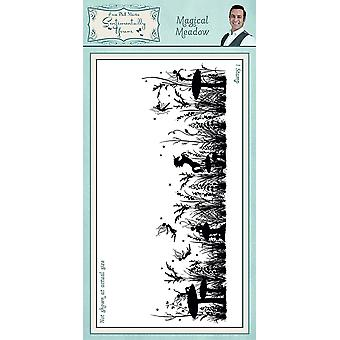 Sentimentally Yours Magical Meadow Pre Cut Rubber Stamp