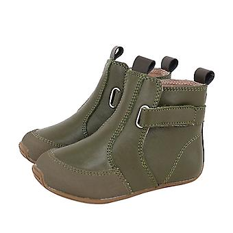 SKEANIE Toddler and Kids Leather Cambridge Boots in Khaki