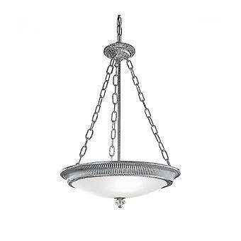 Lámpara Colgante Clásica Milord Cromo 3 Bombillas