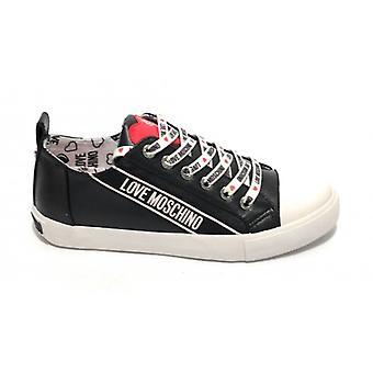 Sko Kvinne Kjærlighet Moschino Sneaker I Ecopelle Nappa Farge Svart Ds19mo15