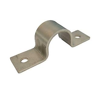 Pipe Saddle Clamp -  Anchor - 22 Mm Id, 19 Mm Ih, 25 X 3 Mm T304 Stainless Steel (a2)
