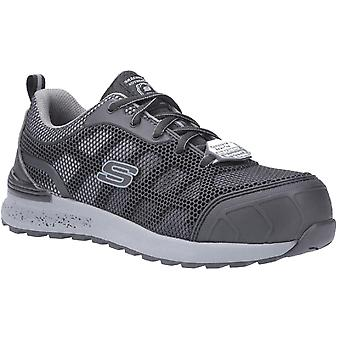 Skechers bulklin-lyndale athletic safety toe cap work shoes womens