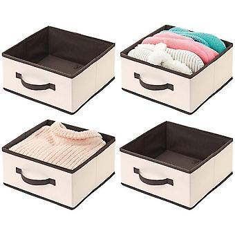HanFei 4er-Set Aufbewahrungsbox frs Kleidung – praktische Ordnungsbox aus Stoff mit Griff