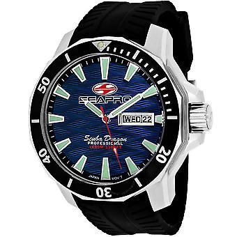Seapro Scuba Dragon Diver Limited Edition 1000 Meters Quartz Blue Dial Men's Watch SP8316
