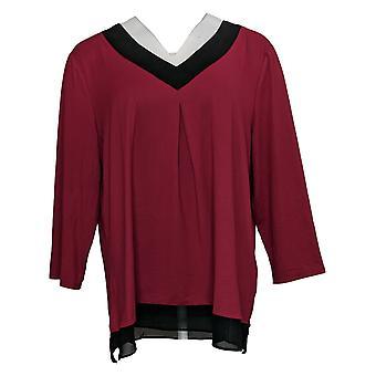 Carole Hochman Women's Jersey Pajama With Chiffon Trim Purple A381496