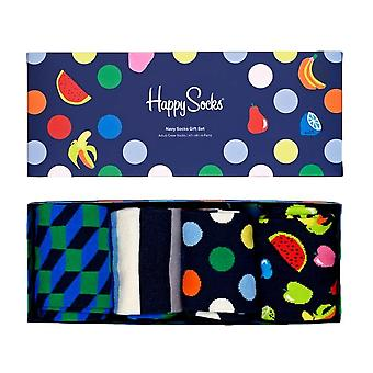 Happy Socks Navy Sukat Lahjasetti 4 Pakkaus