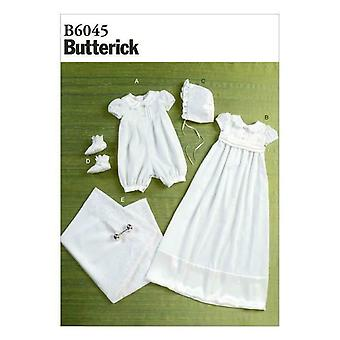 Butterick نمط الخياطة 6045 الرضع الطفل رومبر وشاح غطاء محرك السيارة حجم التمهيد XS-XL