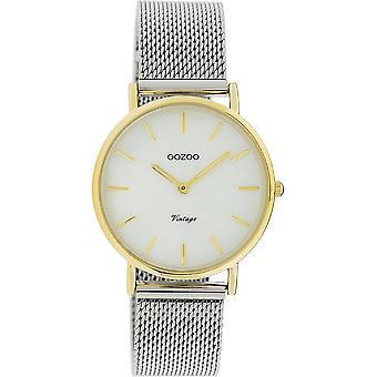 OOZOO Wristwatch Vintage Unisex – Silver/Gold C20124