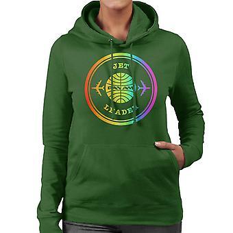 Pan Am Jet Leader Rainbow Foil Women's Hooded Sweatshirt