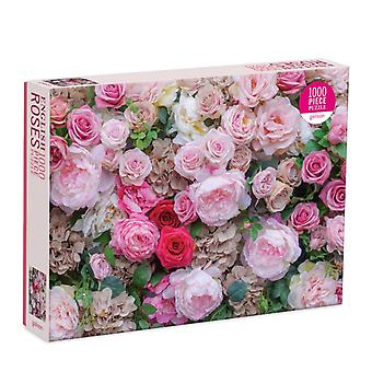 English Roses 1000 Piece Puzzle by By photographer James Ogilvy & Created by Galison