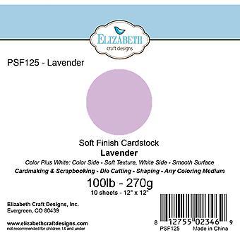 Elizabeth Craft Designs - Soft Finish Cardstock Lavender
