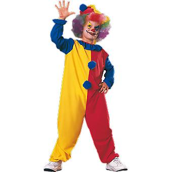 Kids Age 3 - 12 Years Clown Costume Circus Carnival Fancy Dress