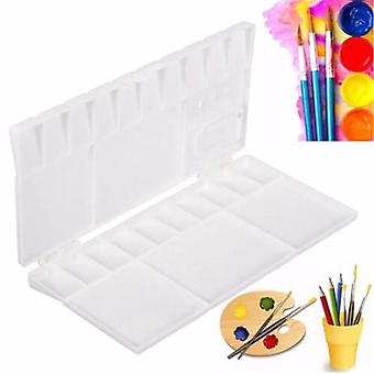 Grids Large Art Paint Tray, Artist Watercolor Plastic Palettes For Painting,
