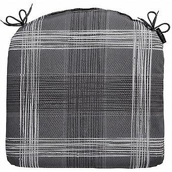 sitzkissen Simon 46 x 48 cm Baumwolle/Polyester grau
