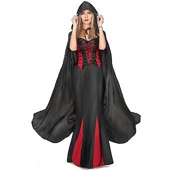 Volwassen zwarte vampier Halloween cape