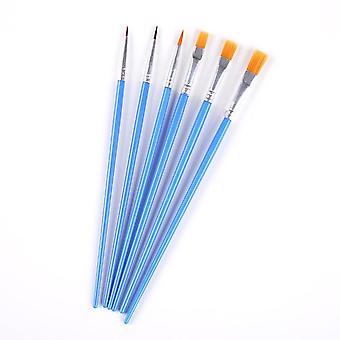 Watercolor Gouache Painting Pen Nylon Hair Wooden Handle Paint Brush