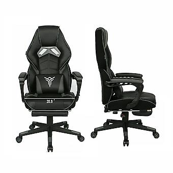 High Back Gaming Chair With Footrest And Lumbar Support