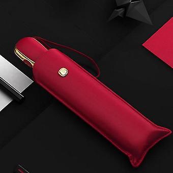 Ultralätt paraply kreativt automatiskt solparaply (rött)