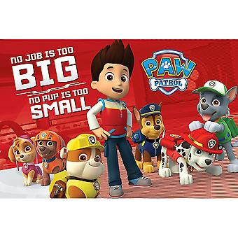 Paw Patrol No Pup Is Too Small Poster