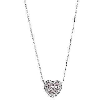 Fossil JF03415040 - Halsband för kvinnor med hjärtformat hänge, rostfritt stål