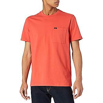Lee Pocket Tee T-Shirt, Tvättad röd, L Man